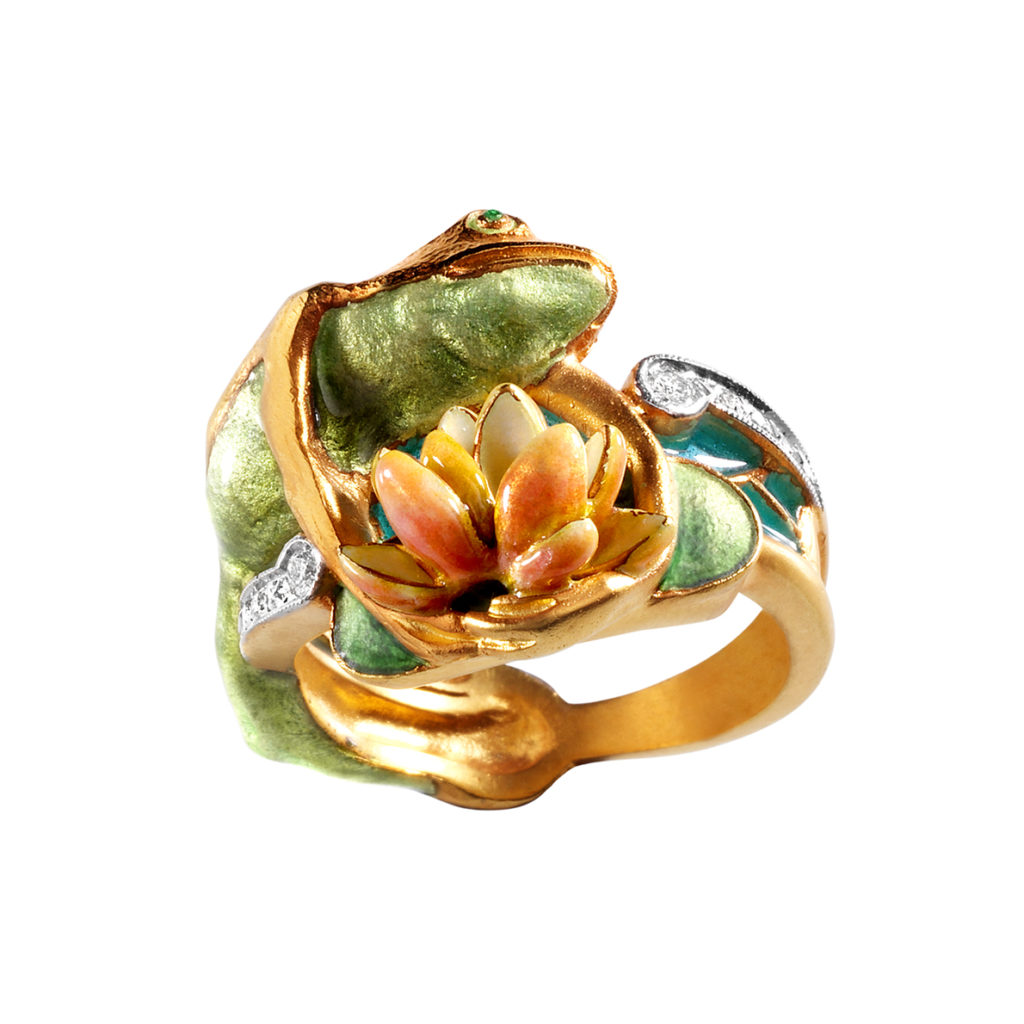 Frog & Water Lily Ring AN-135