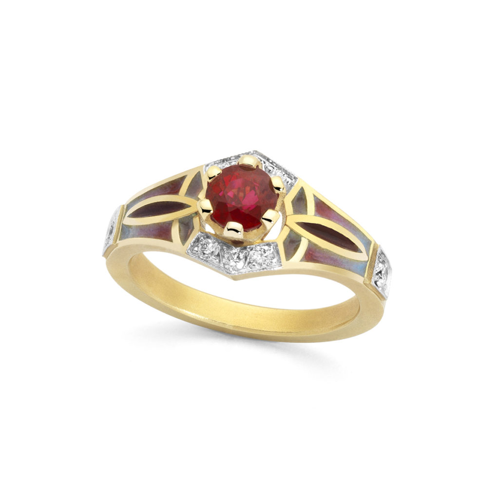 Heart in Red Ring AN-455
