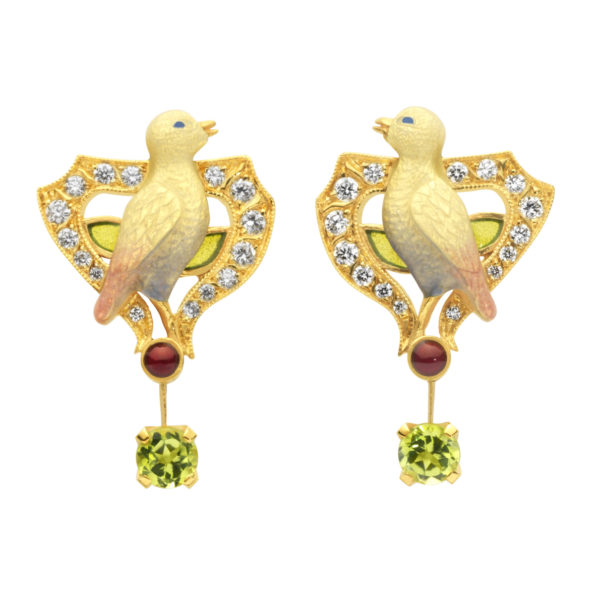 Twin Birds Earrings AR-290