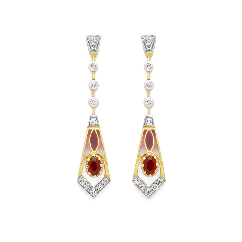 Tears on Red Earrings AR-305