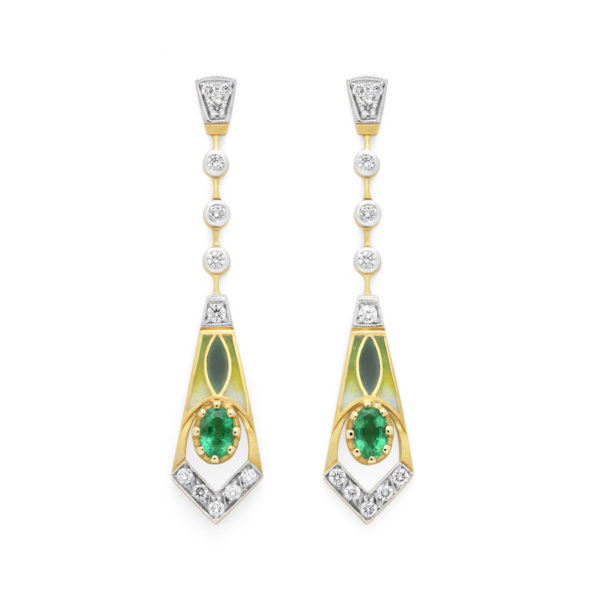 Hearts On Green Earrings AR-307