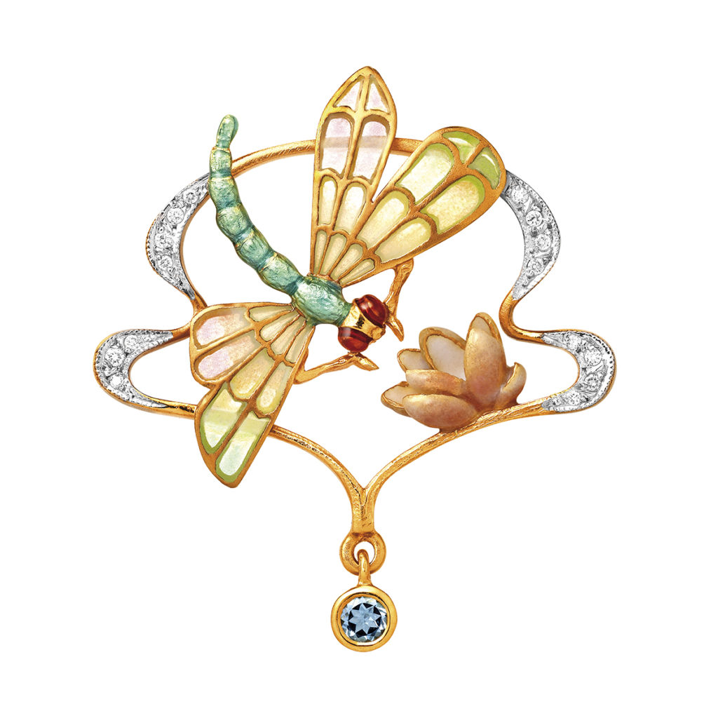 Dragonfly & Water Lily Brooch/Pendant PB-480