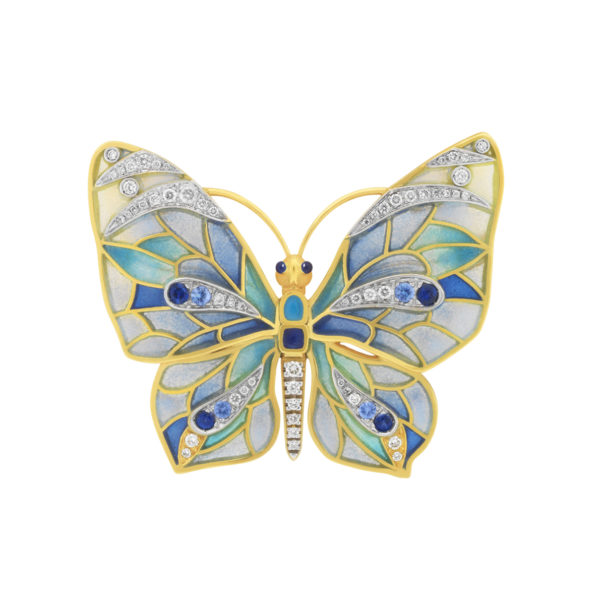 Blue Butterfly Brooch/Pendant PB-750
