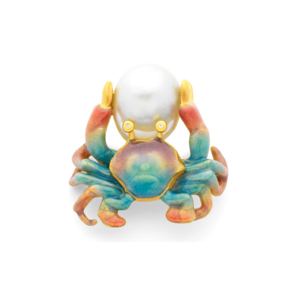 Blue Crab Brooch/Pendant PB-771