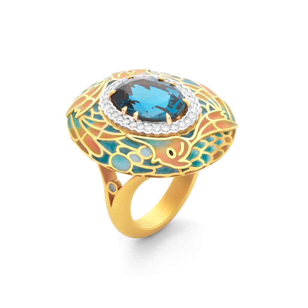 Deep Sea in Blue Ring AN-449