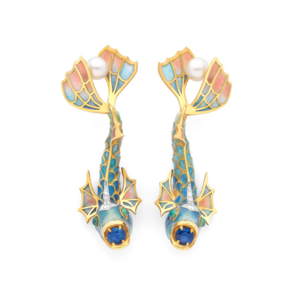 Rainbow Fishes Earrings AR-300
