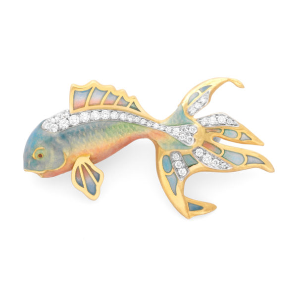 Sweet Water Fish BroochPendant PB-767