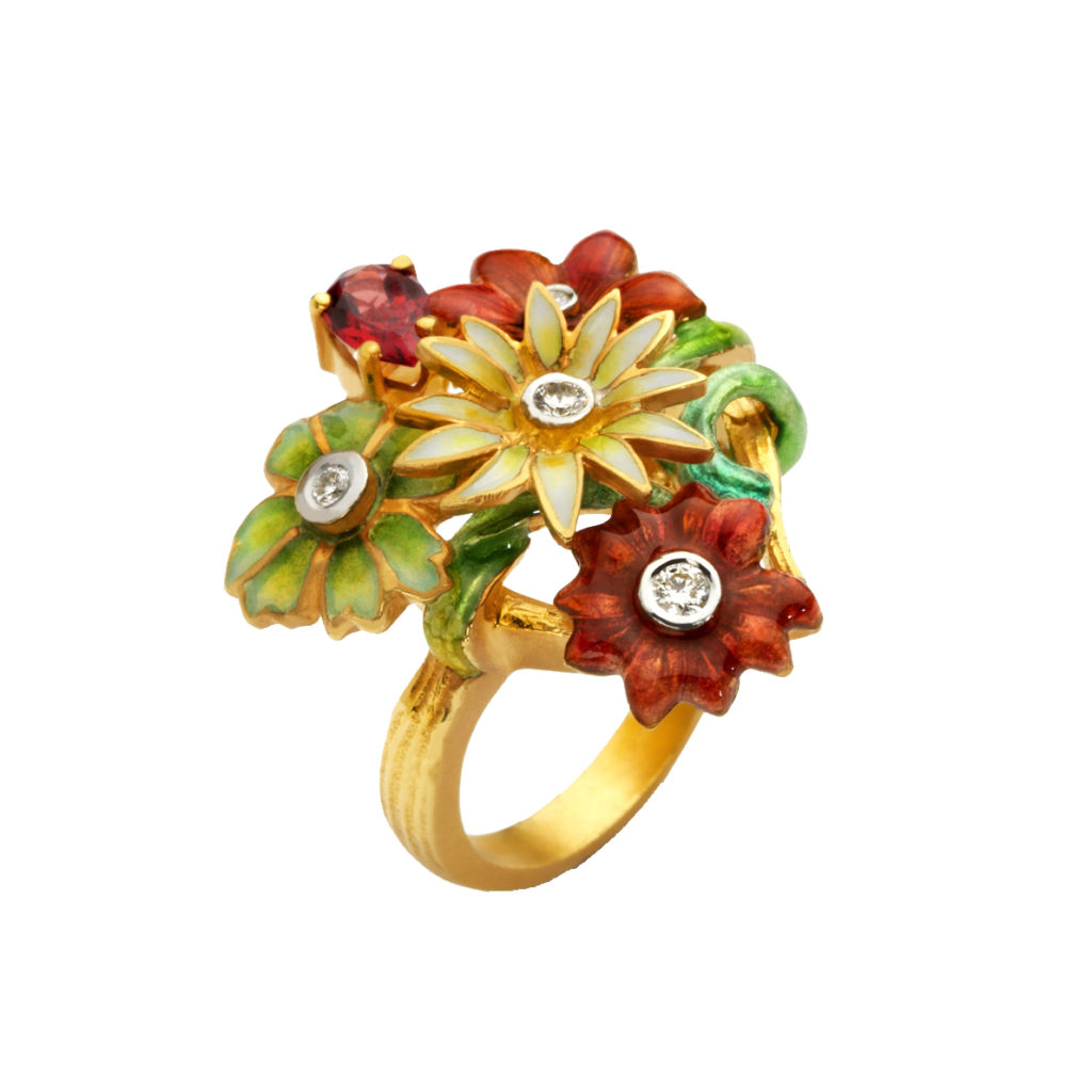 Lively Bouquet AN-285 Ring