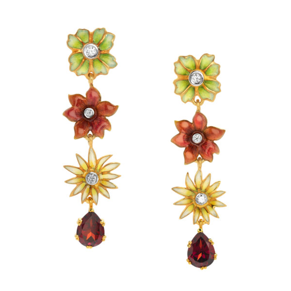 Lively Flowers AR-171 Earrings