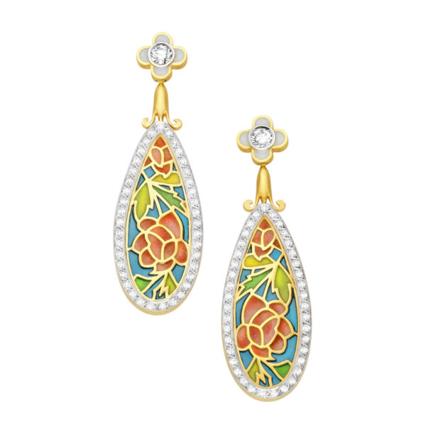 Drops of Roses AR-226 Earrings