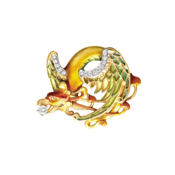 Fire Dragon PB-422 Pendant &Brooch