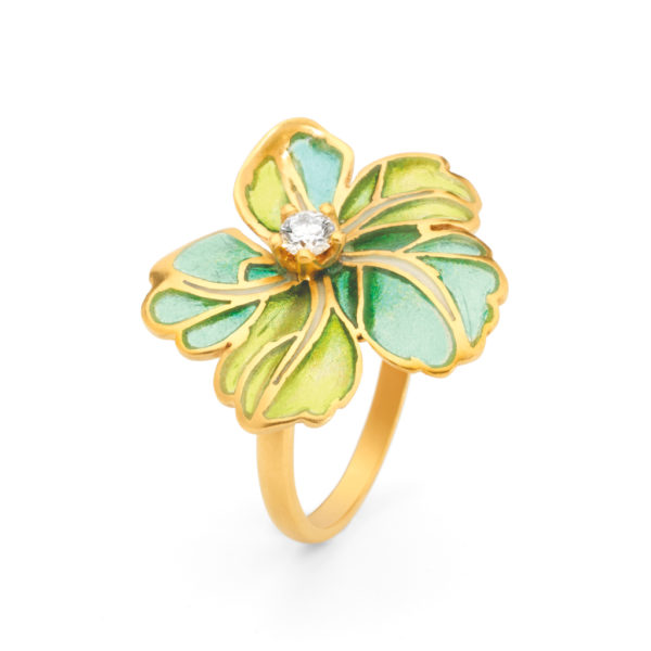 Green Sparkle AN-313 Ring