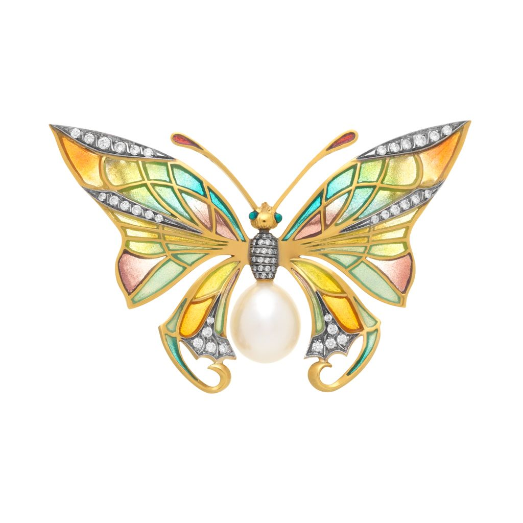 Pearly Butterfly PB-616 Pendant&Brooch